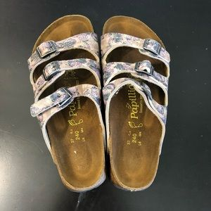 Birkenstock Papillio Leather Pattern Cork Sandals